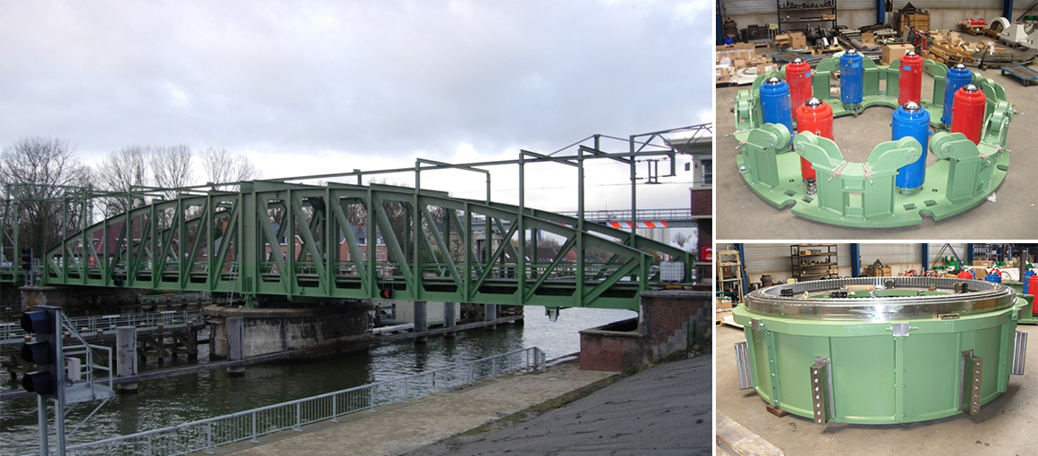 """Rotating railway bridge"" - Willebroek"